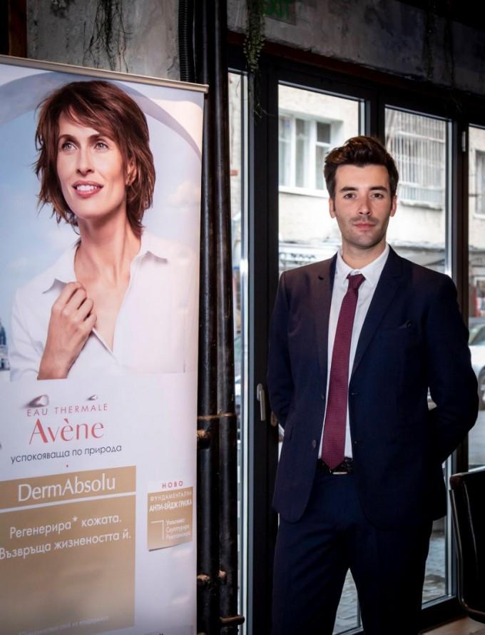 Грегори Дор, продуктов мениджър за антиейдж грижи на Avene