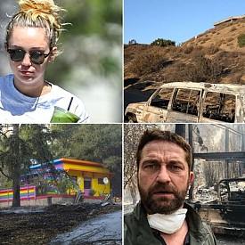 Звездите, чиито домове са засегнати от огромните пожари