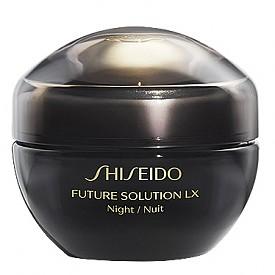 Дневният и нощният крем Future Solution LX на SHISEIDO стимулират енергията на кожата, за да съхрани по-дълго жизнения си потенциал. Активна съставка е античната билка Enmei, известна с лечебните си свойства, която се превръща в стимулант на гена на дълголетието на кожата. Дневният крем защитава, а нощният регенерира кожата.