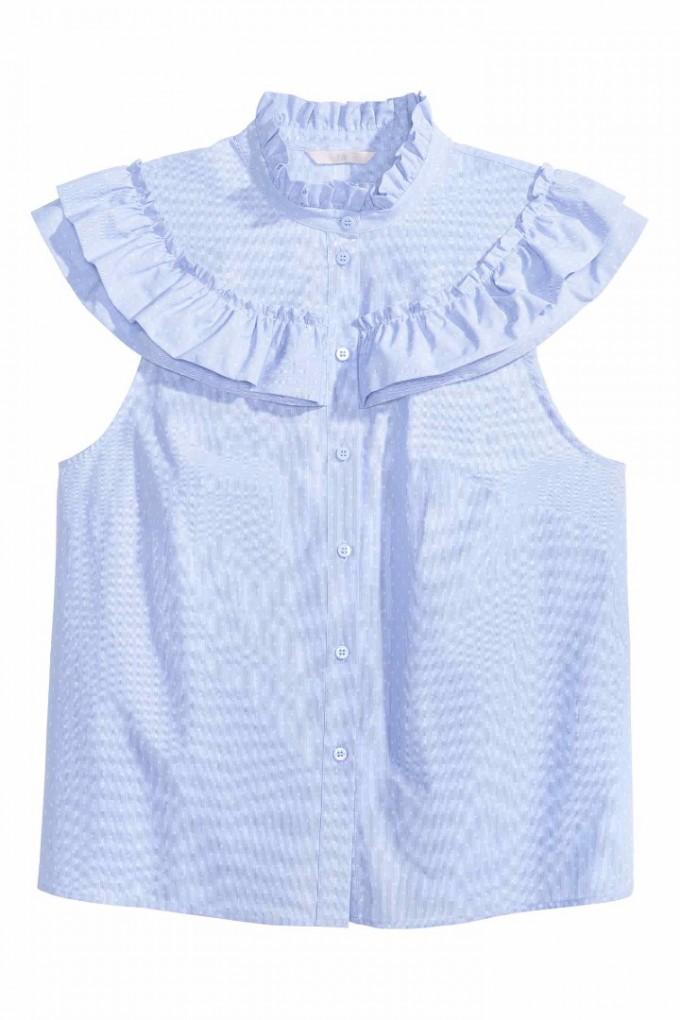 Риза с волани H&M