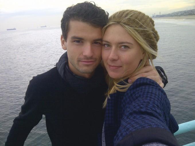 Гришо и Шарапова по времето, когато още бяха двойка.