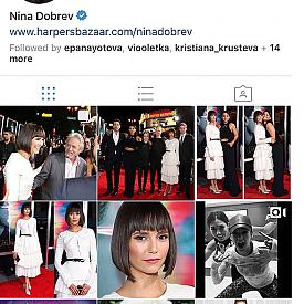 НОМЕР 1: @nina (13,7 милиона). Напълно обяснимо е холивудската звезда от български произход Нина Добрев да се радва на огромна популярност в Инстаграм. Постовете й са предимно с моменти от ежедневието й. Прави впечатление, че не е фен на селфитата и масите с храна, което ни радва.