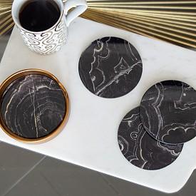 Мраморни подложки за чаши сет 4 бр. на AUDENZA