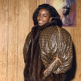 Монограмно яке LV носено от олимпийската златна медалистка Даян Диксън