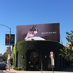My first campaign and my very own billboard! Shot by #davidsims - styled by@kegrand - hair by @guidopalau