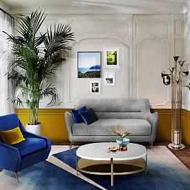 Диван Dandridge и килим Spielberg от Essential Home (essentialhome.eu)
