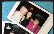 Нина с баба си и дядо си