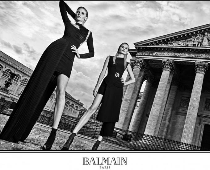 BALMAIN провокира с рекламна фотосесия