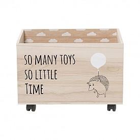 Приберете играчките! Ако имате малко дете, сигурно имате и играчки навсякъде по пода. Организирайте хаоса, като прибирате играчките в такива кутии. Освен, че са много практични, те са и много симпатични. (einrichten-design.de)