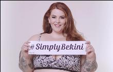 Тес Холидей се снима в реклама за бикини