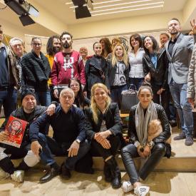 Част от екипа на телевизия ММ и организатори на концерта