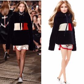 Обликът на Джиджи Хадид се пренесе върху кукла Барби