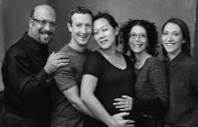 Марк с Присила и семейството си