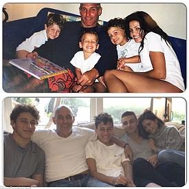 Джена Дюам с братята и баща си - преди и сега