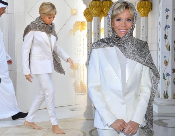 Бриджит Макрон в Абу-Даби боса и облечена в Louis Vuitton