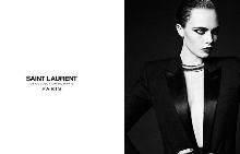 Фотосесия за La Collection De Paris, на марката Saint Laurent