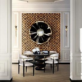 Златното като акцент на стената също е стилен вариант