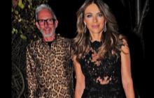 Елизабет Хърли блести на парти в рокля на български дизайнер