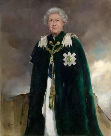 Новят портрет на кралица Елизабет II е повече от величествен