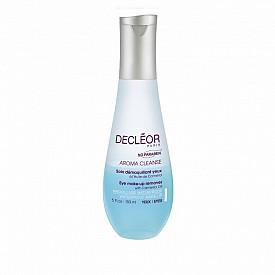 Двуфазен почистващ продукт за очи Aroma Cleanse l с вода от метличина, която успокоява и етерично масло от камелия, което детоксикира кожата.