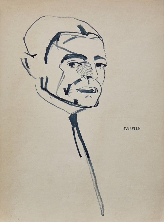 Пенчо Георгиев, 1926 г., туш върху хартия
