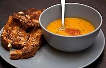 ТИКВЕНА СУПА / Гъста супа от пюре о тиква – традиционна американска супа за студеното време.
