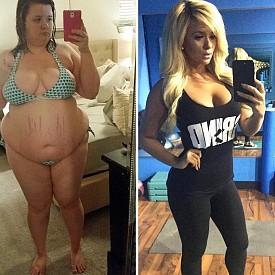 """КРИСТИН КАРТЪР – СВАЛИЛА 70 кг. / Кристин е от Далас и напълняването й се дължало на хормони. През 2014 г теглото й достигнало критичните 125 кг. И веднага след като чула заветното """"Здрава сте!"""" от лекарите, тя се отправила в спортната зала. Но не само това – подложила се на опарецаия за намаляване на стомаха и за година и половина свалила 60 кг."""
