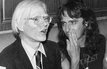 Анди Уорхол и Алис Купър през 1974