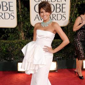 """Ева Мендес през 2009 г на 66-тите награди """"Златен глобус"""""""