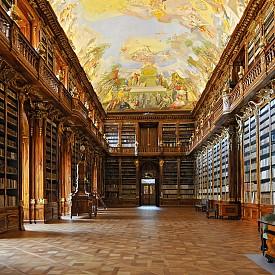 """Библиотеката на манастира """"Страхов"""", Прага, Чехия. В двете й барокови зали, за съжаление, не се допускат посетители."""