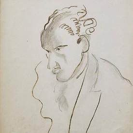 Ато Зайднер, 1948 г., въглен върху картон