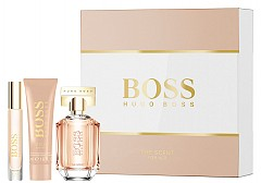The Scent For Her, BOSS: EDP 50 мл, лосион за тяло 50 мл, спрей 7.4 мл