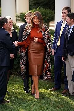 Мелания Тръмп на церемонията за Деня на благодарността