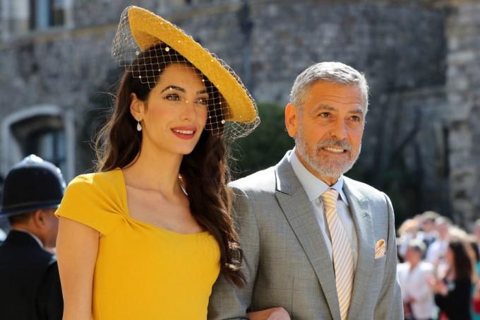 Амал и Джордж Клуни на сватбата на принц Хари и Меган Маркъл