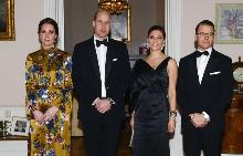 Кейт Мидълтън, принц Уилям, принцеса Виктория и принц Даниел