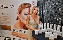 Биляна Бързакова с козметичните продукти на Bileya