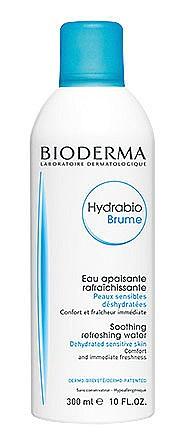 Успокояващ и освежаващ спрей за дехидратирана чувствителна кожа от серията Hydrabio на BIODERMA