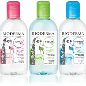 Култовата мицеларна вода на Bioderma е идеалният продукт за почиване на грим и замърсявания по цялото лице, без нужда от изплакване.