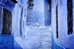 Малкият град Шефшауен в Мароко