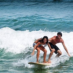 Бразилска сърф двойка