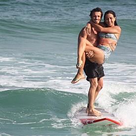 Акробатична сърф двойка от Бразилия