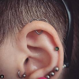 Пиърсинг - сърце за ухото