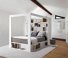 Спалня с рамка за балдахин Vox от Deccoshop (deccoshop.com)