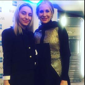 Елена Славева по време на срещата с Кармен Бускет