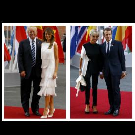 LOOK OF THE DAY: Бриджит Макрон vs Мелания Тръмп