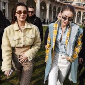 SISTER STYLE: Джиджи и Бела Хадид в Милано