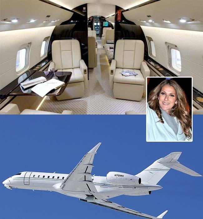 Селин Дион има от тези самолети, които са известни с...