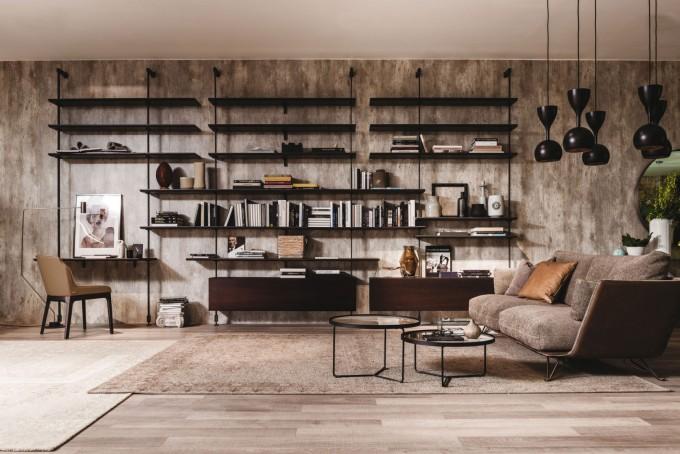 Рафтовете от пода до земята са практично и стилно...