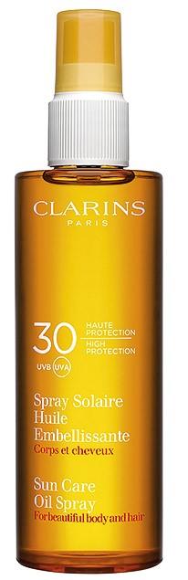 Слънцезащитно масло-спрей за коса и тяло от CLARINS с UVA/UVB...