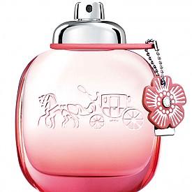 """Чаената роза на COACH отново е тук, но този път носи името Floral Blush. Този нов аромат """"рисува"""" свободолюбивия дух на съвременната жена с нотки божур, прасковен цвят и годжи бери."""